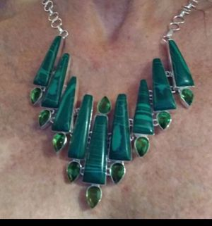Gorgeous Malachite Necklace for Sale in Brooksville, FL