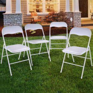 Folding Chairs Plastic Party Wedding ( 10 pack ) for Sale in Norcross, GA