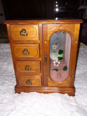 Girls Jewelry Box 4 drawers and glass cabinet. for Sale in Frederick, MD