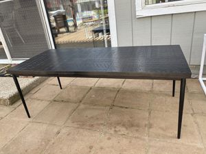 Black indoor/outdoor coffee table for Sale in Madera, CA