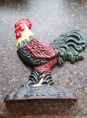 Cast iron rooster door stop for Sale in Farmville, VA