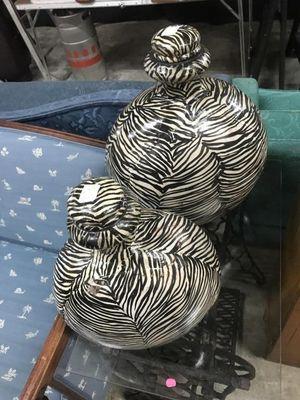 """""""Zebra look"""" Decorative Decor for Sale in Vero Beach, FL"""