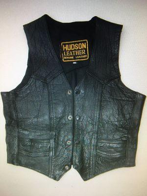 Black, full leather 'Harley' vest for Sale in Dutton, MI