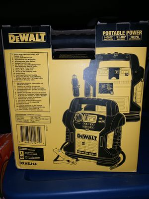 Dewalt power station! Jump starter and outlets with 120psi air compressor for Sale in Arlington, WA