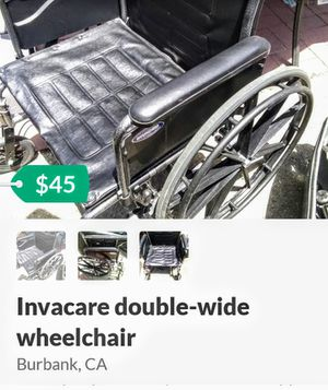 Excellent double wide wheelchair for Sale in Burbank, CA