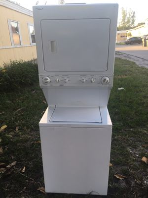 Washer and dryer stackable 27x75 work good for Sale in West Palm Beach, FL