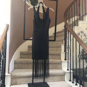 ASOS black fringe halter neck dress- size 10 for Sale in Cypress, TX