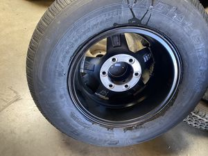 4x ST trailer tire 225x75–15 with 4x 6 lugs 5.5 $720 no bargaining for Sale in Fontana, CA