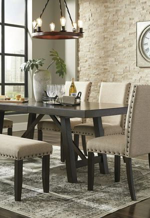 🍁SAMEDAY DELIVERY 🍃SPECIAL] Rokane Brown Rectangular Dining Set | D397 for Sale in Laurel, MD