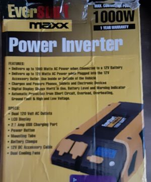 POWER INVERTER 1000 W for Sale in Fort Myers, FL