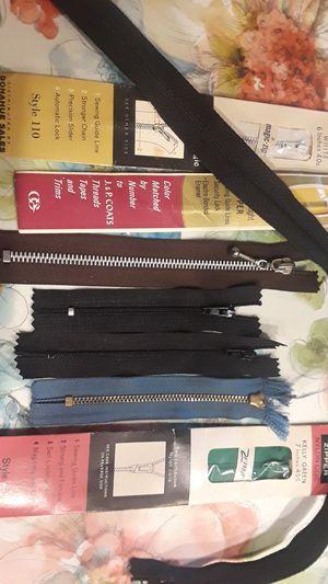 Zipper lot clothing J&P coats Talon metal Zipper lot sew for Sale in Lakewood, CA