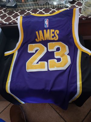 cb4acefb4ada LA LAKERS LEBRON JAMES JERSEY SIZE MED-2XL 100% STITCHED for Sale in Colton