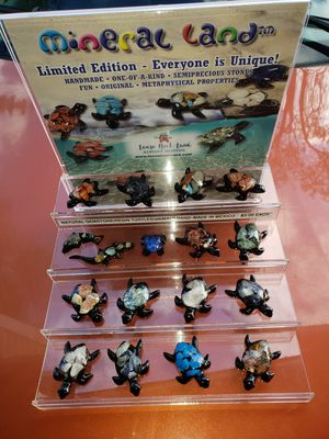 New Gemstone Mineral & Resin Turtles Hand-Made in Mexico for Sale in Boca Raton, FL
