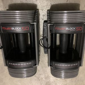 PowerBlock Sport 50lb adjustable dumbbell (a pair) for Sale in Renton, WA