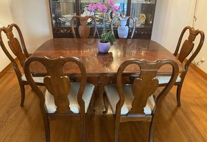 French Vintage Dining Table Set Pure Wood Handmade for Sale in Pico Rivera, CA