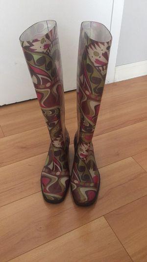 Brand New Emilio Pucci Rain Boots Size 37 (US6.5) for Sale in Washington, DC