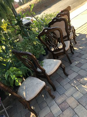 6 piece wooden chairs (chairs ONLY) for Sale in Los Angeles, CA
