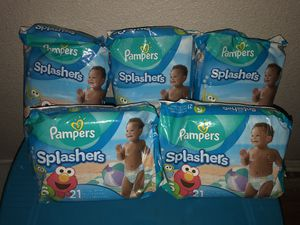Pampers splashers size 6 for Sale in Fort Worth, TX