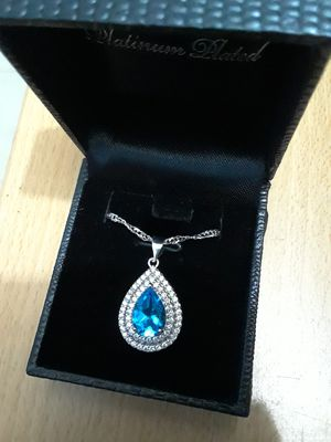 Blue sapphire necklace for Sale in Port St. Lucie, FL