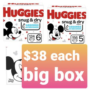 Huggies snug and dry size 5 and 6 diapers for Sale in Santa Ana, CA
