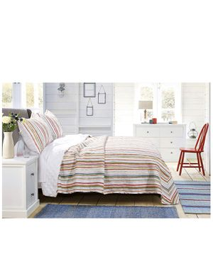 Greenland Home Sunset Stripe Quilt Set, Full/Queen, Cabana for Sale in Las Vegas, NV