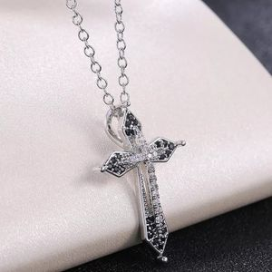 18k white gold filled cross necklace for Sale in Staten Island, NY