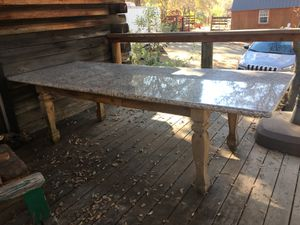 Granite slab table for 8 or use as kitchen island for Sale in Browns Valley, CA