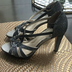 Opened toe Silver Sparkly High Heels for Sale in Burlington, WA