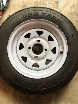New Trailer Tires on Used Wheels for Sale in Plano, TX