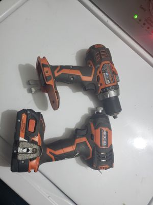 Ridgid 18v Drill/Impact combo for Sale in Citrus Heights, CA