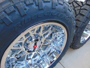 Chrome 20X12 Worx Conquest Rims & 305 55 20 Nitto Ridge Grappler Tires for Sale in Aurora, CO