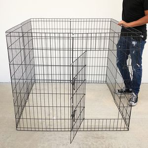 """(Brand New) $45 Foldable 42"""" Tall x 24"""" Wide x 8-Panel Pet Playpen Dog Crate Metal Fence Exercise Cage Play Pen for Sale in Pico Rivera, CA"""
