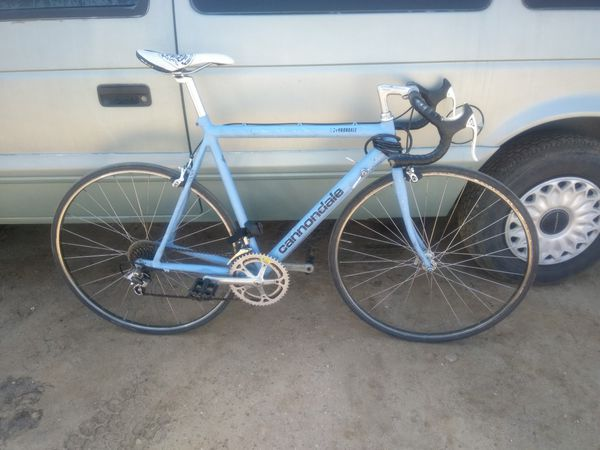 Cannondale baby blue bike