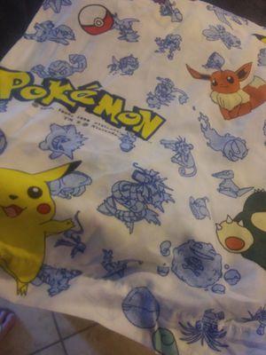 Pokemon top twin bed sheet dated 1995 for Sale in Murfreesboro, TN
