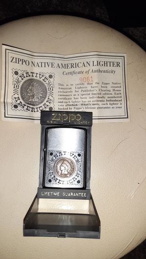 Native American 1906 penny zippo for Sale in ARSENAL, PA