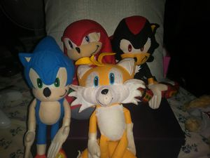 4 Sonic plushies, take them all or choose for Sale in Boston, MA