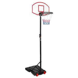 Kids Portable Height-Adjustable Sports Basketball Hoop Backboard System Stand w/ Wheels - Black for Sale in Dublin, OH