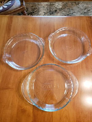 Glass Pie Plates (3) for Sale in Fort Belvoir, VA