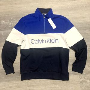 Calvin Klein colorblock logo zip sweatshirt for Sale in West Palm Beach, FL