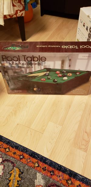 Table Pool Game for Sale in Alexandria, VA