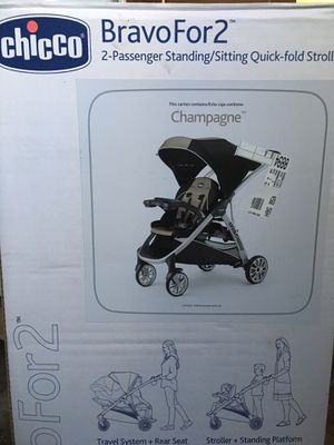 Double stroller, CHICCO's BravoFor2, Like new condition. for Sale in High Point, NC