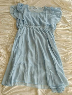 NEW ANGELA Dress ~ Beautiful Baby Blue Chiffon ~ Girls XXL or Ladies Small for Sale in San Marcos, CA