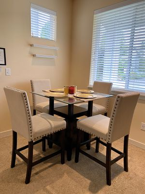 Square glass dining table & chairs for Sale in Auburn, WA