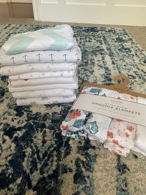 Aden & Anais brand new muslin swaddles for Sale in San Juan Capistrano, CA