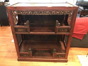 100 yr old Artisan Handmade Chinese Bar Shelf for Sale in Alexandria, VA
