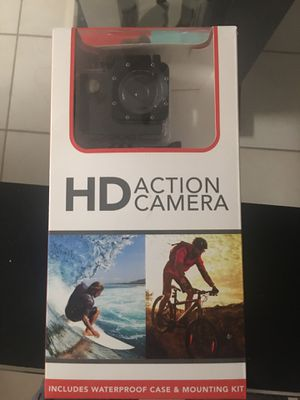 HD Action Camera with Waterproof case and Mounting Kit for Sale in Chandler, AZ