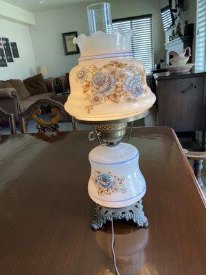 Vintage milk glass hurricane lamp for Sale in Eagle Mountain, UT