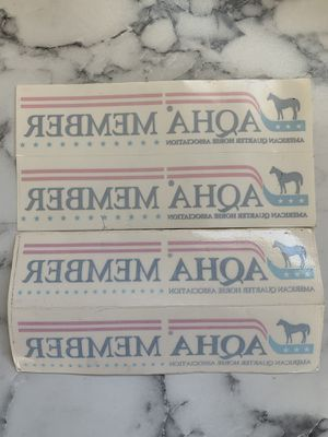 4 AQHA American Quarter Horse Association window stickers decals for trucks cars or trailers barrel racing western pleasure jumping English halter for Sale in El Cajon, CA