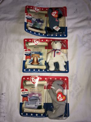 TY Beanie Baby set of 3. Political set for Sale in Woodbridge, VA