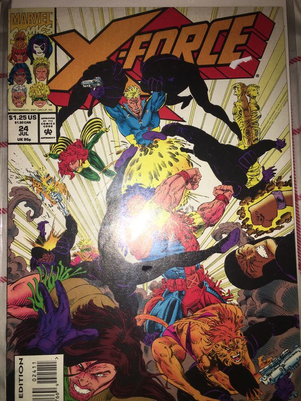 Vintage x-force comic books